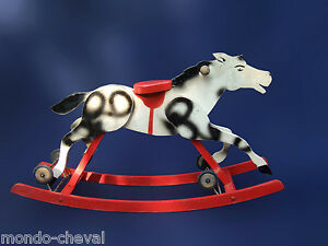 cheval a bascule et a roulettes en bois ancien rocking horse ebay. Black Bedroom Furniture Sets. Home Design Ideas