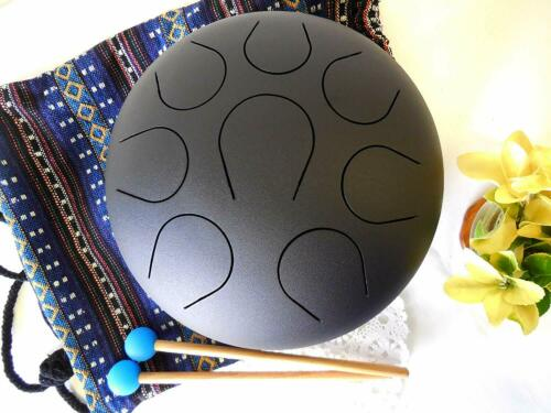WuYou~10 Inch Handmade Carbon Steel Tongue Drum Hanpan Meditation sound Drum,