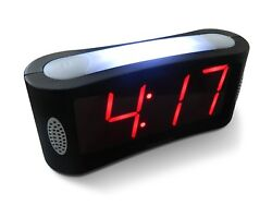 Big Clock Numbers Alarm Clocks LED Digital Alarm Large Night Light Big Red Digit