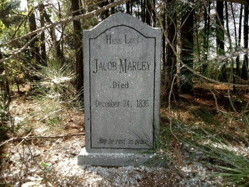"""Jacob Marley Tombstone Scrooge A Christmas Carol Theater or Yard Prop """"NEW"""""""
