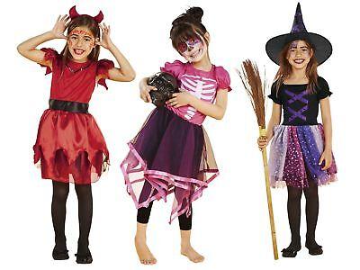 Mädchen KOSTÜM Halloween Skelettkostüm & Teufelchenkostüm Skelett  - Skelett Kostüm Mädchen