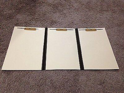 12 Tri Fold Folders Legal Size With 3 Fasteners Manila New