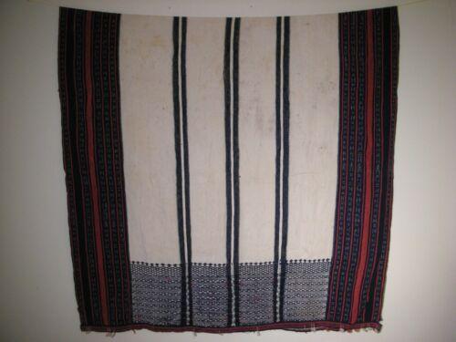 """Antique Philippines Aborigine IFUGAO Tribal Large Textile Cloth (102"""" x 54"""")"""