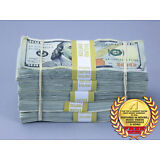 Prop Money $50,000 TRUE BLUE AGED Blank Filler Play Fake Prop Bills Movie Money