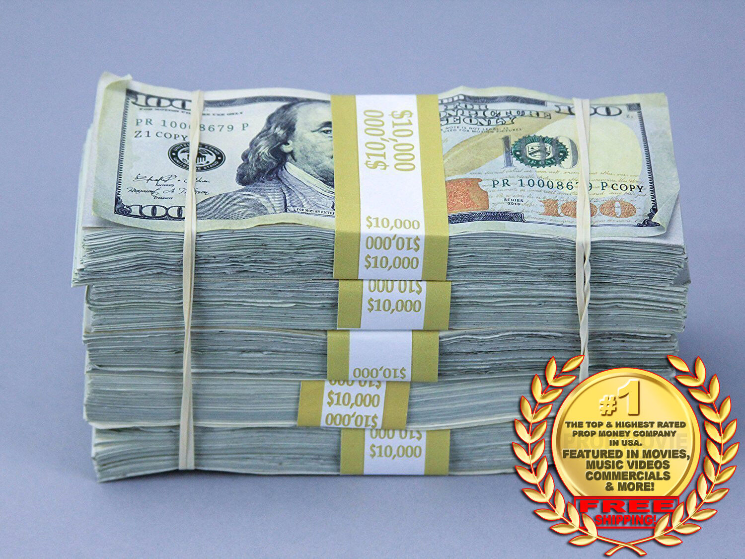 Купить PROP MONEY $50,000 TRUE BLUE AGED Blank Filler Play Fake Prop Bills Movie Money