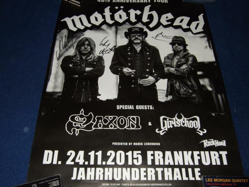 MOTORHEAD ( MOTÖRHEAD ) : SIGNED 40TH ANNIVERSARY TOURPOSTER GERMANY 2015
