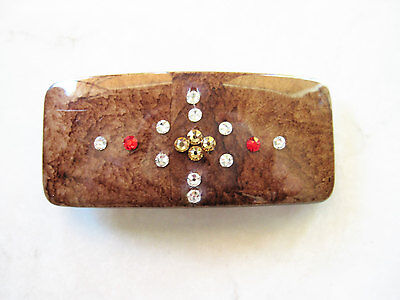 crystal hair clip clamp barrette  made with swarovski crystals