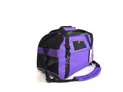 "Pet Carrier Oxford Soft Side Dog 16"" x 8"" x 11"" Shoulder Bag Purple SMall"