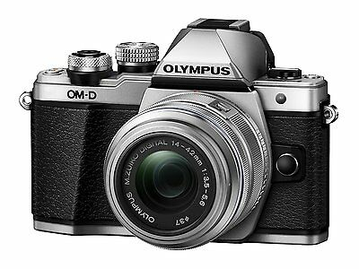 Olympus OM-D E-M10 Mark II Mirrorless Camera with 14-42mm Lens  Silver