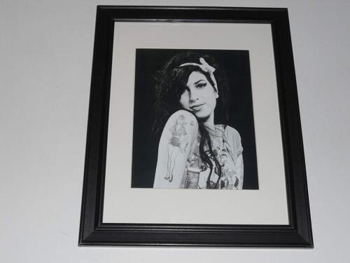 "Framed Amy Winehouse B/W Model Shot 2009 14""x17"""