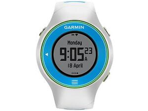 Garmin Forerunner 610 White Blue Green GPS Watch Receiver With Heart rate