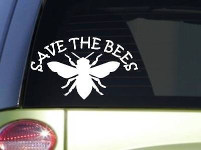 Save the Bees *J285* 8 inch beekeeping Sticker decal hive honey (Save The Honey Bees Sticker)