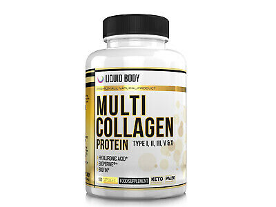 Multi Collagen Protein 180 Capsules Three Months Supply - Type I, II, III, V, X