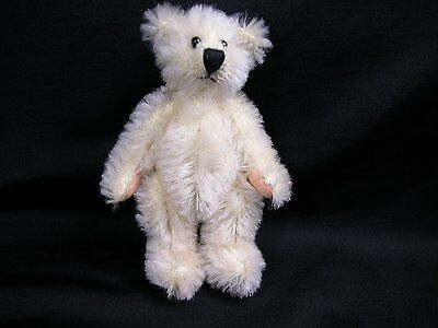 "World of Miniature Bears 5"" Mohair Bear Millennia-2001 #2001 Collectible Bear"