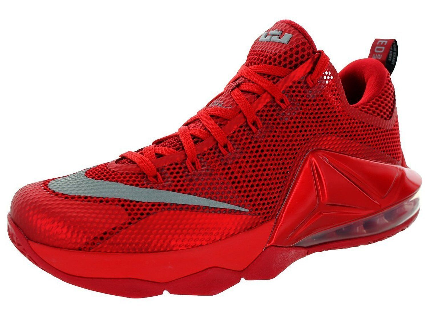 reputable site 8f32d fb514 Nike Lebron XII 12 Low Size 9 Red Silver Mens Basketball Shoe 724557 ...