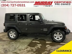 2014 Jeep WRANGLER UNLIMITED Sport 4WD Hard Top Convertible