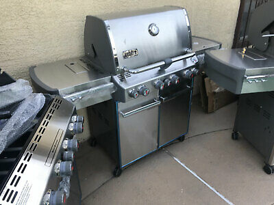 Weber Summit S-470 4 Burner LP Propane Gas Grill Stainless...