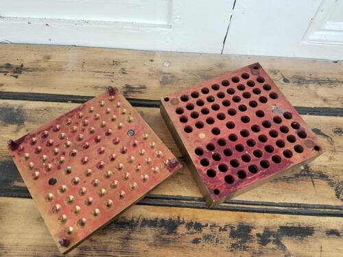 Antique sold brass mould (Lipstick, Candle or Suppository mould)
