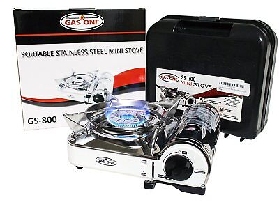 Mini Butane Portable Camping Gas Stove With Carrying Case By Gas One  New