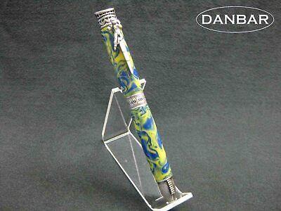 Handmade Acrylic and Pewter Football BallPoint Twist Pen - DanbarPens