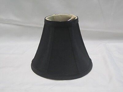 (Urbanest Black Chandelier Mini Lamp Shade,Softback Bell,Silk,3
