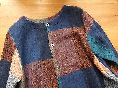 Prit Japan Made Block Check Wool Cardigan Top as New RRP$250