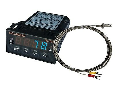 12v Dc 132din Digital Pid Temperature Controller Blue With K Thermocouple