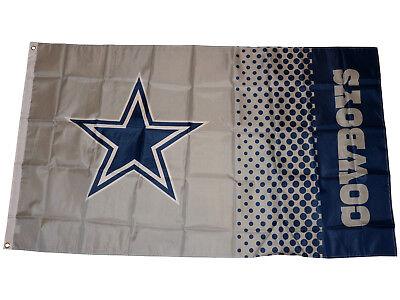 Dallas Cowboys Fahne grau NFL Fade Flag American Football Flagge ca.155x90 cm
