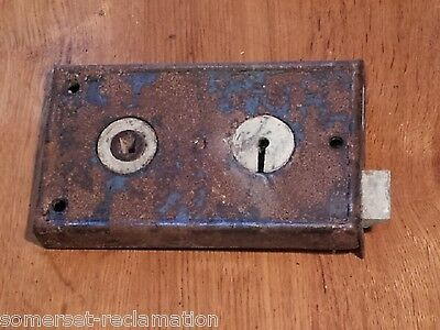 Reclaimed Antique Right Hand Fairly Rusty Door Rim Lock