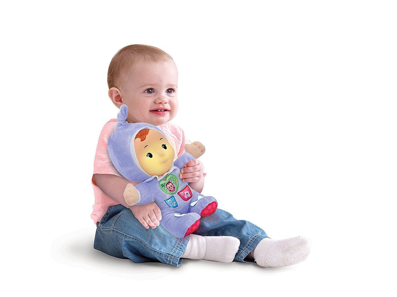 Ab 6 Monate Entdecker Baby Schmuse Puppe Nachtlicht Musik Herztaste Licht