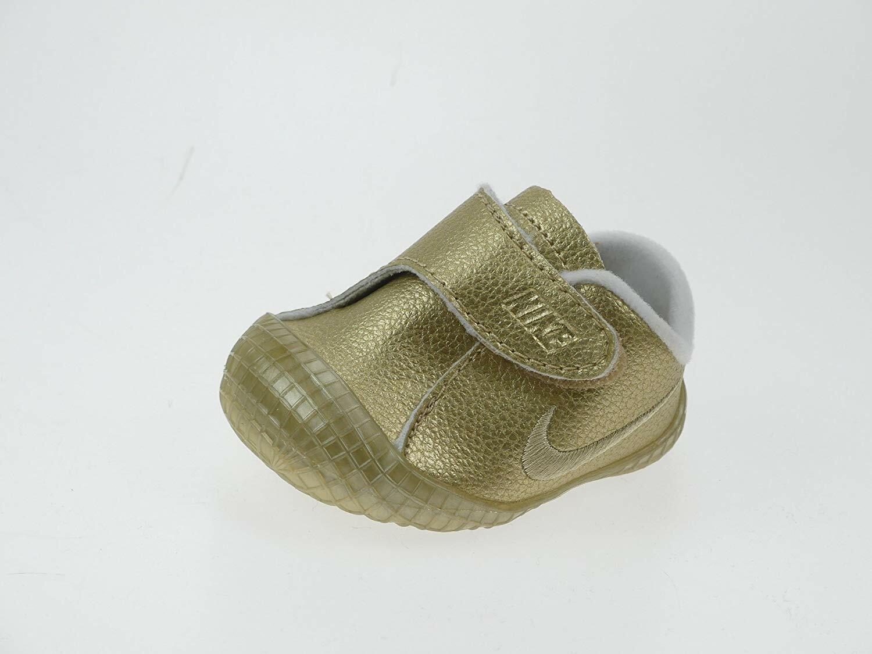 NEW Nike Baby Waffle 1 PRM Infant/Toddler Metallic Gold White 845126 Crib Shoes