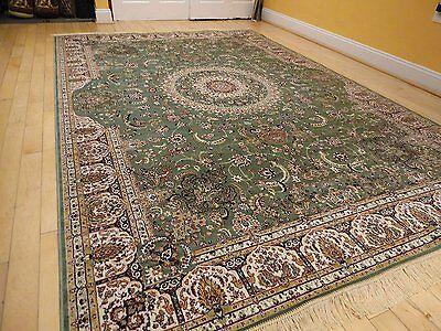 Silk Persian Rugs Tabriz Rug 9x12 Green Area Rugs 5x8 Rug 2x12 Long Runners](Long Carpet)