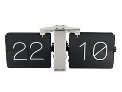 Karlsson Flip Clock No Case - Black Stylish Designer Timepiece