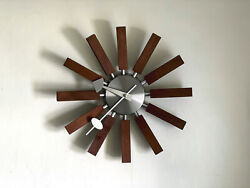 Clock by George Nelson. Walnut. All Parts Original & Working