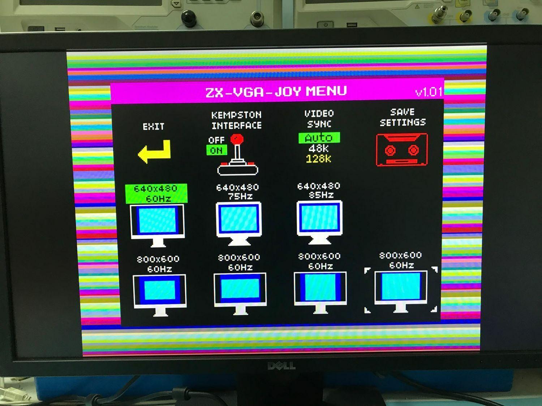  Sinclair ZX Spectrum ZX-VGA-JOY Interface for VGA…