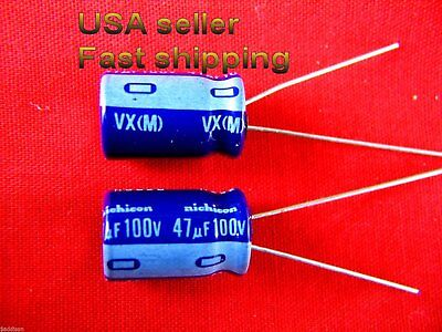 4 Pc - 47uf 100v 85c Nichicon Electrolytic Capacitor L Free Shipping