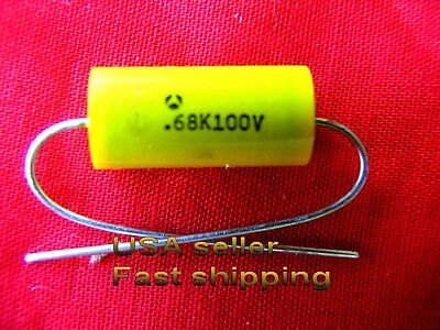 4 Pc - .68uf 100v 0.68uf 680nf Axial Metalized Poly Film Cap Free Shippng