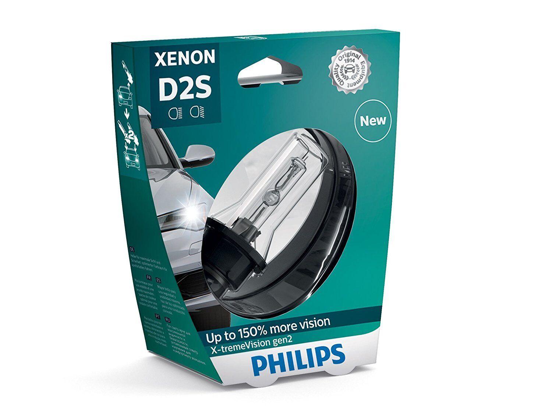 PHILIPS D2S Xenon X-tremeVision gen2 Autolampe bis zu 150% mehr Sicht 85122XV2S1