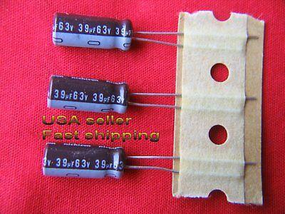 12 Pcs  -  39uf 63v  Radial Electrolytic Capacitors