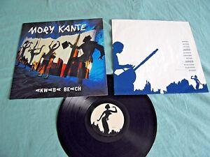 MORY KANTE – Akwaba Beach - 1987 Vinyl LP + INNER Afrobeat World SUPER COPY EX+