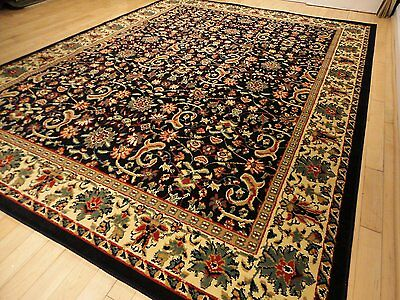 Rugs Area Rugs Carpet Flooring Persian Area Rug Floor Black 8x10 Large Rugs Sale ()