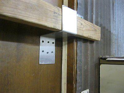 Drop Bar Security Door Lock Brackets Fits 2x4 Boards 4 ...