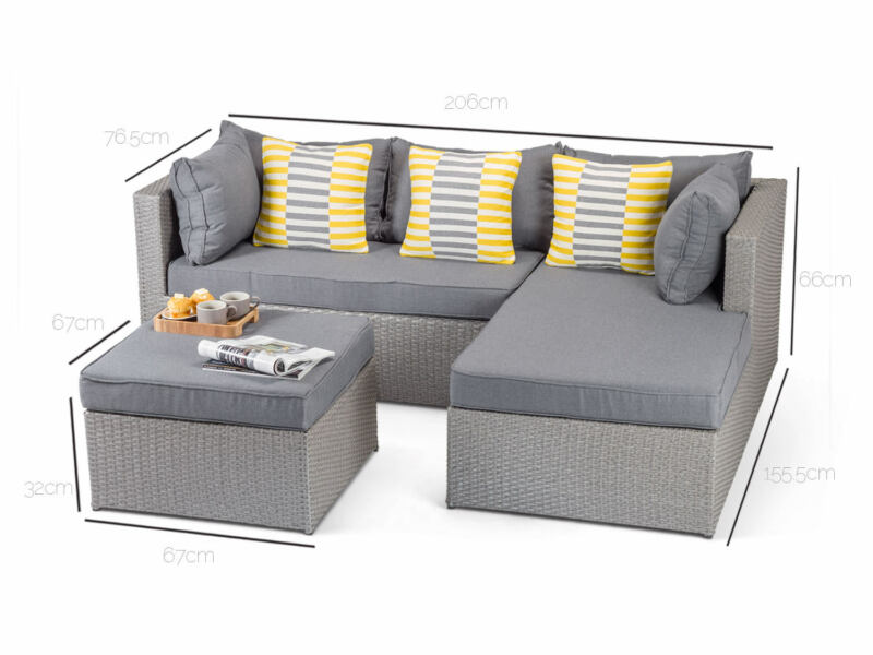 Our grey rattan sofa is our best-selling product on eBay