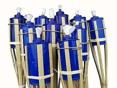 SET OF 30 Bamboo Tiki Torches Bamboo Covers 48