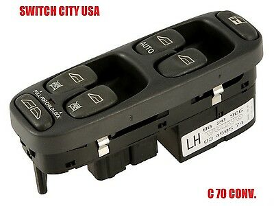 Volvo C70 Coupe Convertible Driver Master Power Window Switch 8628966 ()