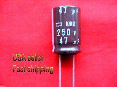 3 Pc  -  47uf 250v 105c Nippon Radial Electrolytic Capacitors Free Shipping