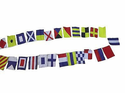 Nautical Sailboat Boating Code FLAG - String of 26 flags Bunting -25 Feet Long