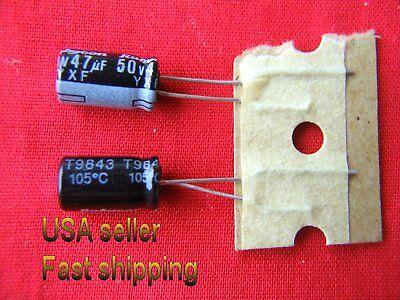 4 Pc - 47uf 50v Electrolytic105c Rubicon Caps Low Esr Long Life. Free Shipping