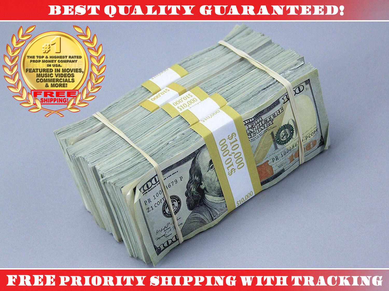PROP MOVIE MONEY $50,000 Blue Style AGED Filler Play Fake Prop Bills Movie Money