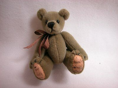 "World of Miniature Bears 2.5"" Plush Bear Med Tan #315 Collectible Bear"